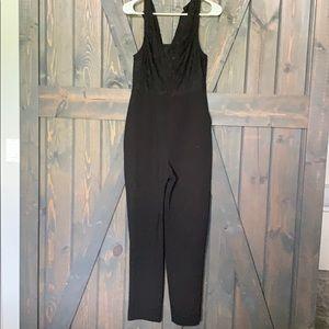 BCBGENERATION Black lace jumpsuit